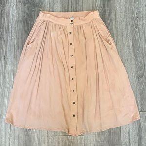 She + Sky Button Down Blush Skirt